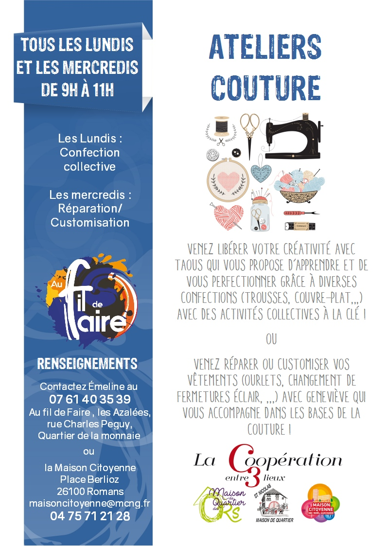 20191209 affiche atelier couture