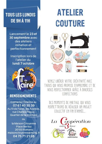 affiche atelier couture