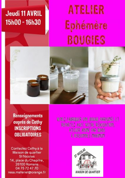 affiche BOUGIES site